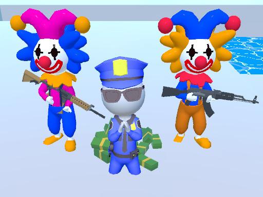 3D瘋狂小丑--Crazy Jokers 3D-Crazy Jokers 綁架了一些人和你最好的朋友。 你要做的是,收集更多的錢並通過每一輪。 只有當你擊敗最後一輪時,你才能拯救你的朋友。