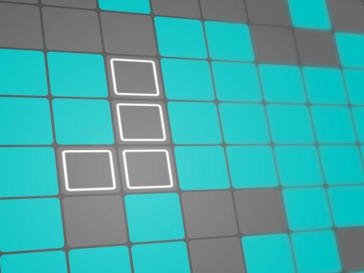 綠松石塊--Turquoise Blocks-您必須將碎片拖到網格中以填充行或列才能得分。如果您沒有足夠的空間來放置碎片,您不會輸,唯一的限制是時間(金條)。您可以收集和使用硬幣來強化(反轉和旋轉網格、拖放固定塊、排列網格和刪除碎片)。
