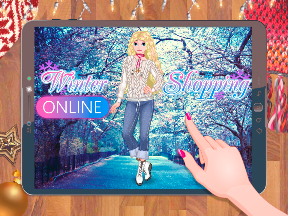 Princess Winter Shopping Online online hra