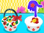 Flower Basket Cupcake