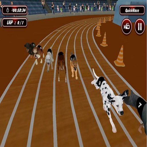 Real Dog Racing Simulator Game 2020
