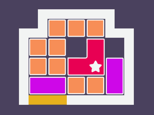 布洛克斯逃生--Blox Escape-這是一個邏輯益智遊戲,你需要從框架中逃脫。 這是一種滑動遊戲。 你需要滑動塊來做一條帶星星塊的路徑。 你有無限的時間來做這件事。 只需滑動盒子,找到最好的逃生方式,用星星擋住。你可以玩 25 個級別,它們都是不同的,其中一些真的很難。