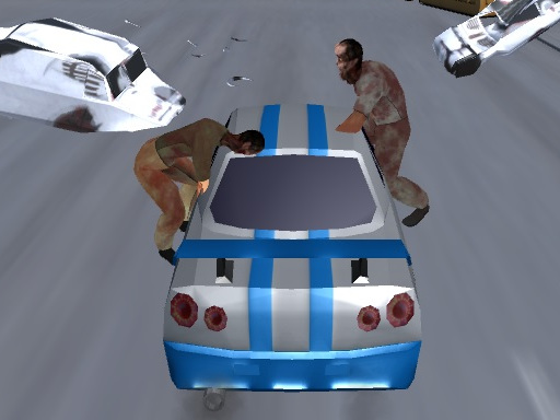 Car vs Zombies online hra