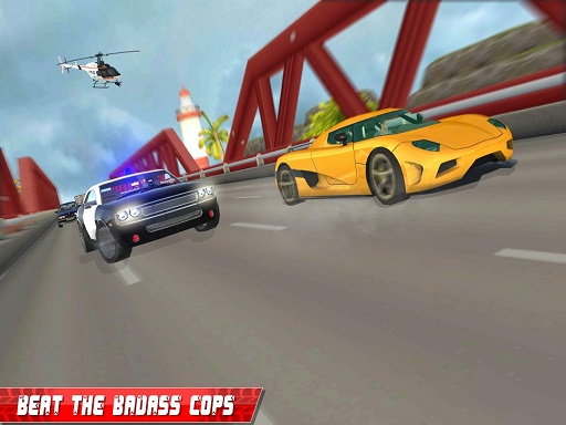 Grand Police Car Chase Drive Racing