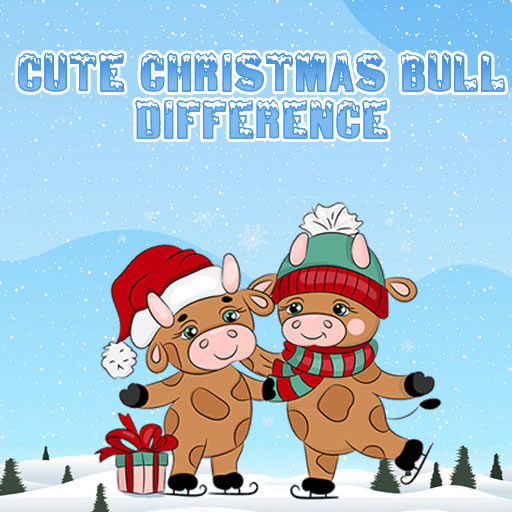 Cute Christmas Bull Difference