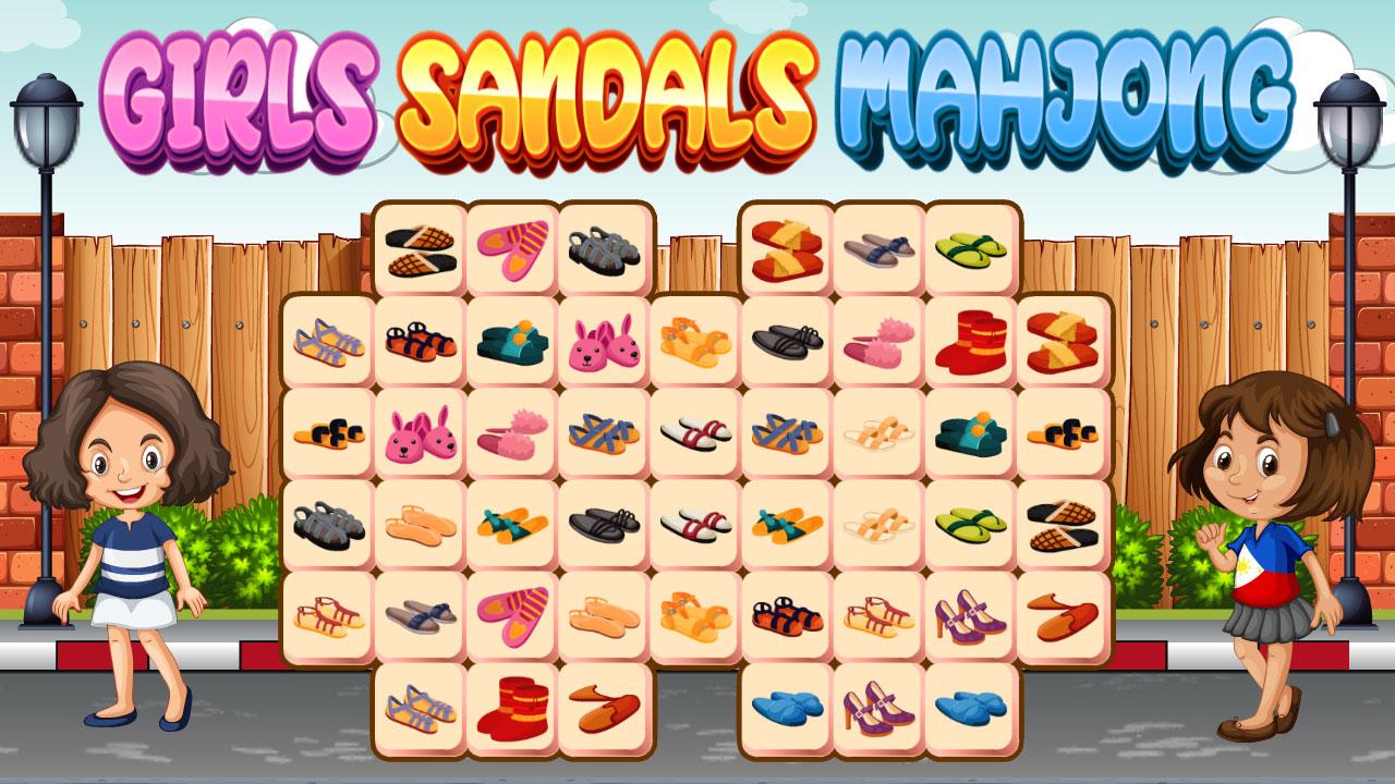 Image Girls Sandals Mahjong