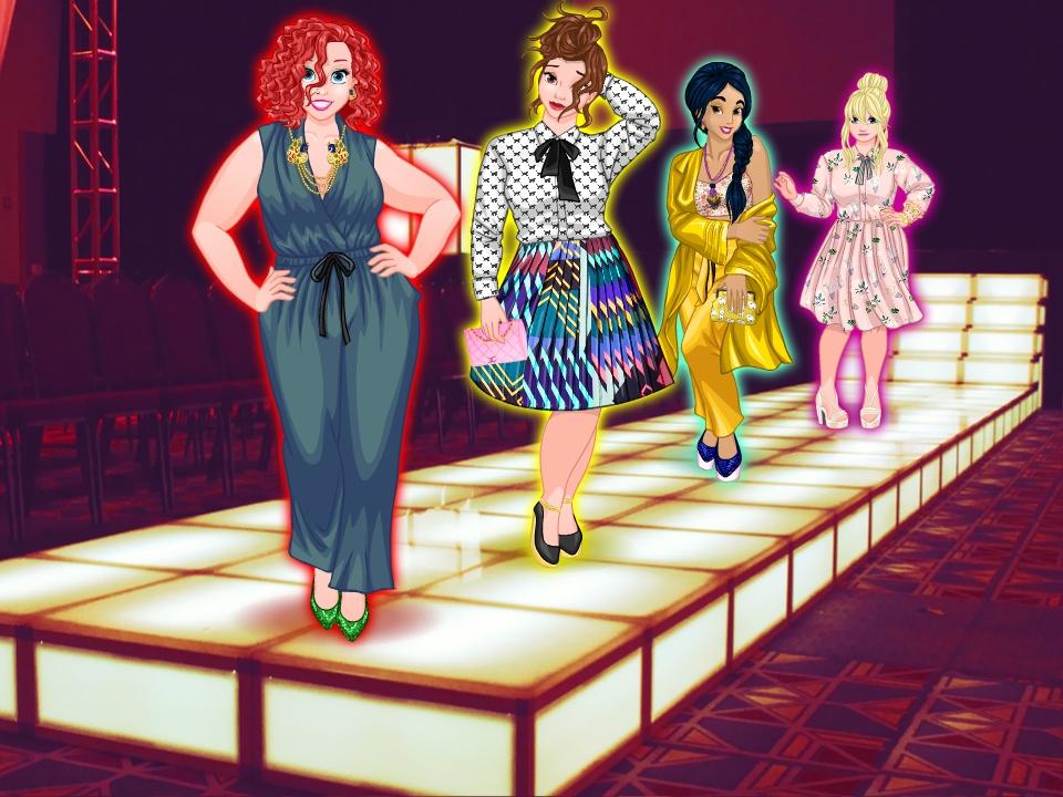 Princesses Runway Plus online hra