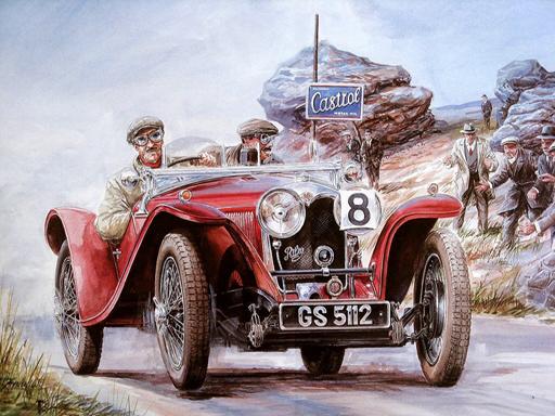 Painting Vintage Cars ...