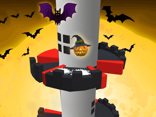 Helix Jump Halloween game