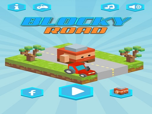 Blocky Road Runner Game 2D