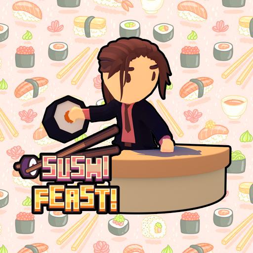 壽司盛宴!-寿司盛宴!-Sushi Feast!-壽司盛宴是一款有趣的街機遊戲,靈感來自祖馬Zuma等遊戲,但帶有壽司!在此遊戲中,您必須對相同種類的食物進行射擊並使其消失。您必須完成目標才能完成關卡並解鎖新外觀和階段。