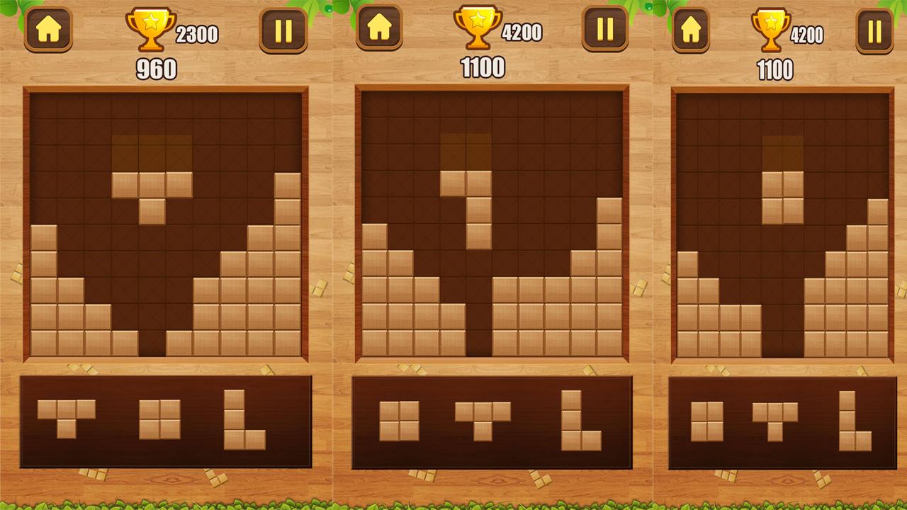 經典積木拼圖--Block Puzzle Classic-將碎片放入板中。 一旦你填充了一條垂直或水平線,它就會消失,為新的作品騰出空間。如果棋盤下方沒有任何給定塊的空間,遊戲將結束。