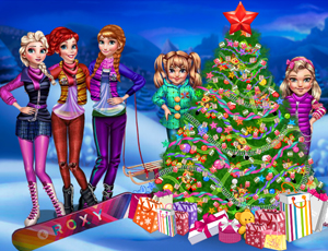 Princesses Christmas tree online hra