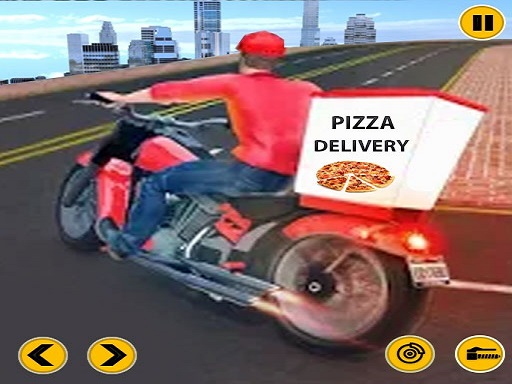 Big Pizza Delivery Boy ...