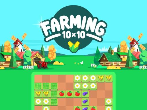 農場10X10--Farming 10x10-管理您的小型 10x10 的農場。 種植各種作物並收穫。 放置新種子時要聰明,這樣您就永遠不會用完空間。 完成行和列以收穫它。 當你給卡車加滿油後,它就會開往市場。