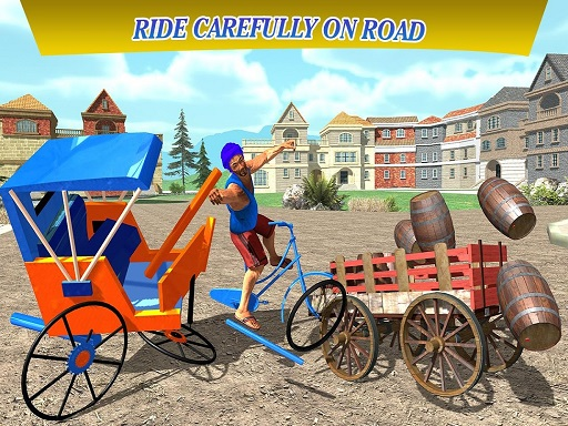 City Cycle Rickshaw Simulator 2020