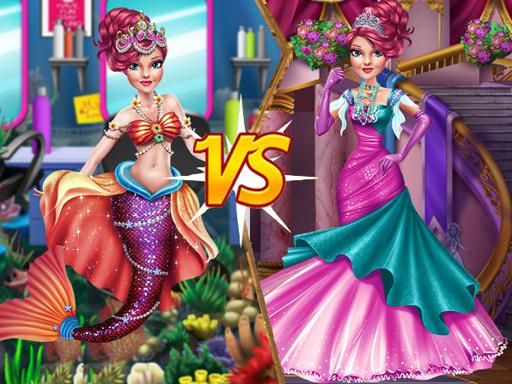 Mermaid vs Princess online hra