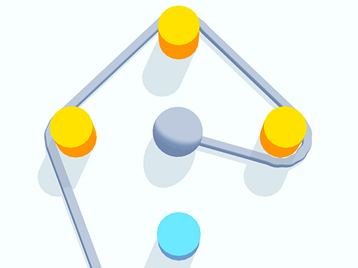 Rope around all of the dots without crossing into the blue area. A fun puzzle game with ropes.