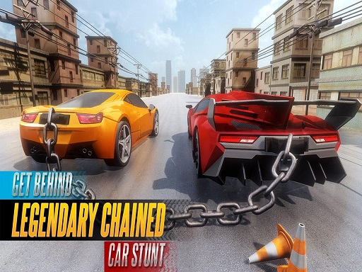 Chained Car Stunts Race ...