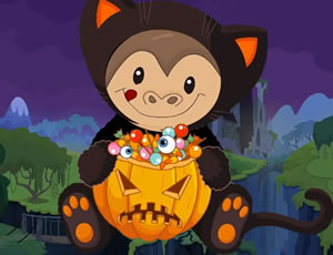 Halloween Monkey Jumper online hra