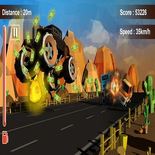Furious Road Game-Low poly Car Racing