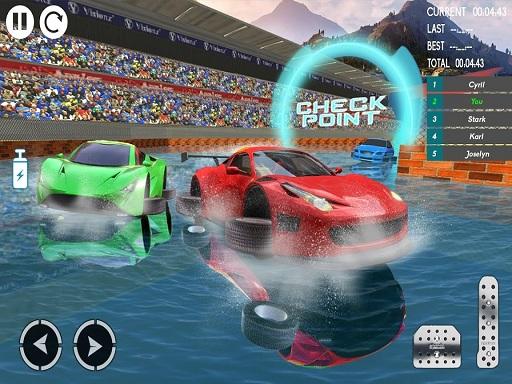 水上汽車特技賽車2019 3D汽車特技遊戲