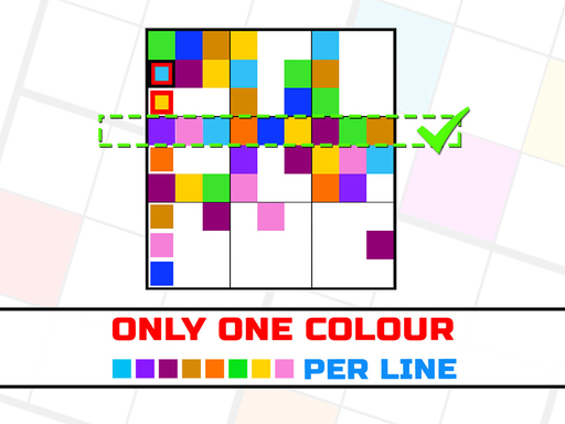 Only 1 color per line