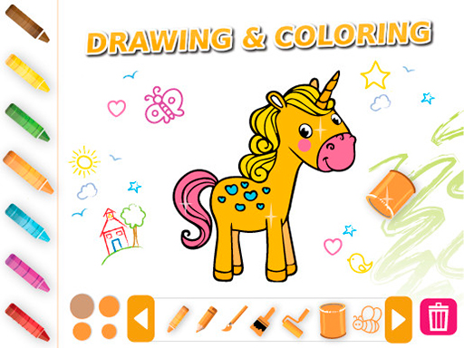 Drawing & Coloring Animals online hra
