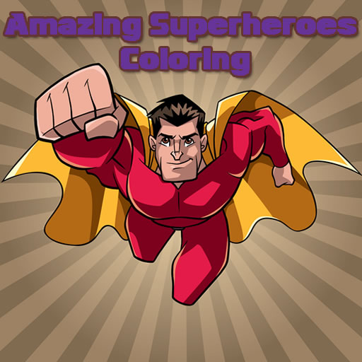 Amazing Superheroes Coloring
