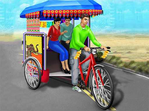 Public Tricycle Rickshaw ...