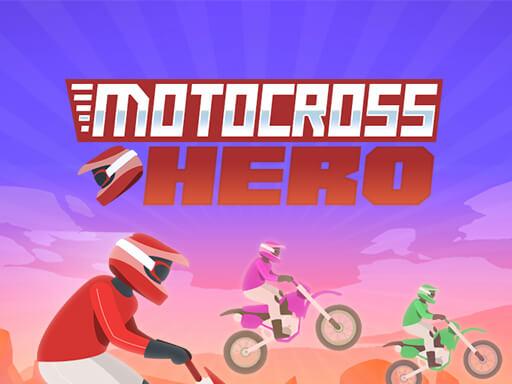 摩托越野英雄--Motocross Hero-在這款激動人心的 MX 賽車遊戲中,讓您的越野摩托車穿越沙漠。 避開坑洼和大裂縫等障礙物。 使用後摩托車輪擊倒你的對手。