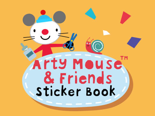 Arty Mouse Sticker Book online hra