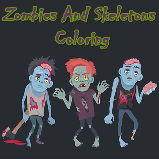 Zombies And Skeletons Coloring