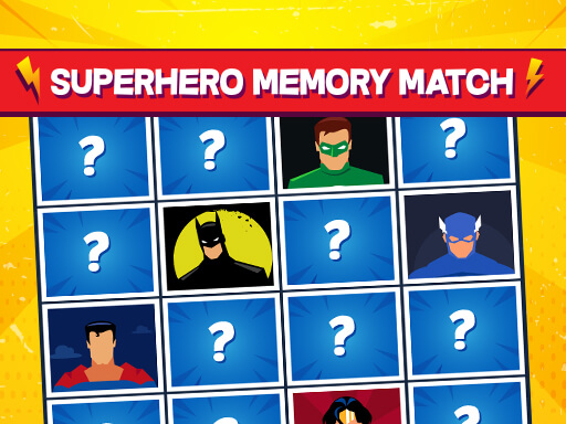 Superhero Memory Match