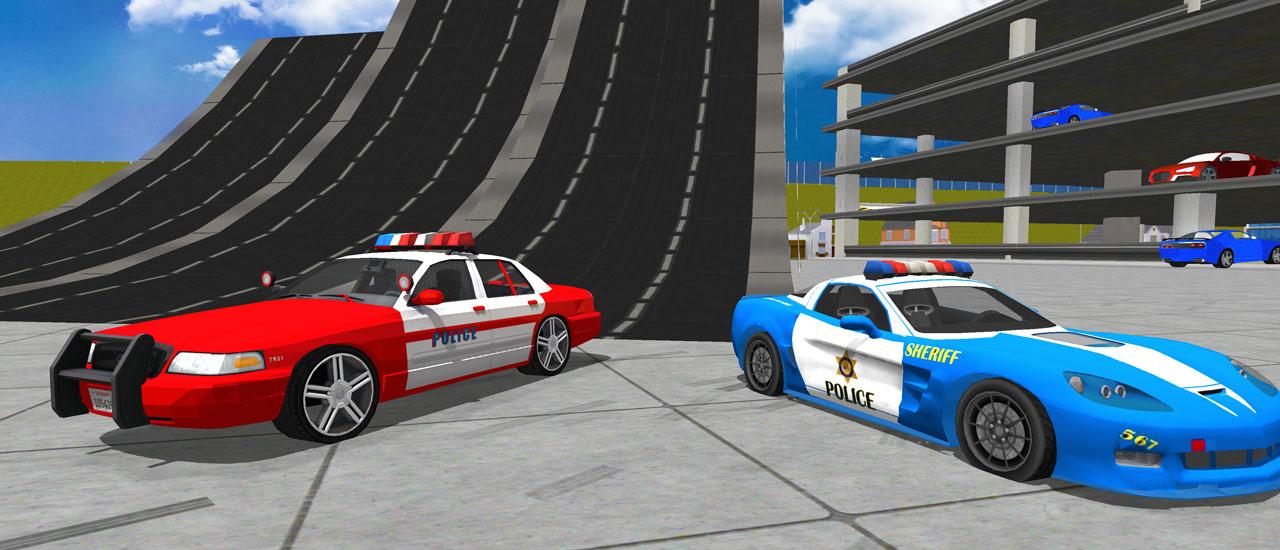 Polis Drift Araba Sürüş Dublör Oyunu