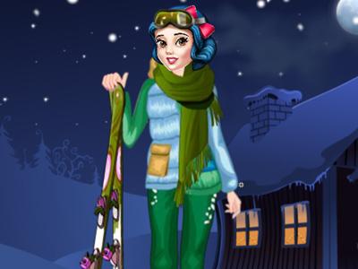 Princesse de ski d'hiver