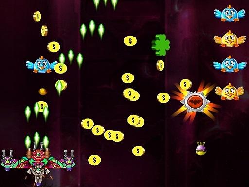 Space Attack Chicken Invaders online hra