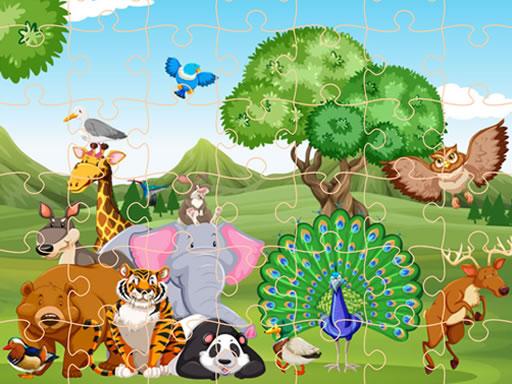 Wild Animals Jigsaw online hra