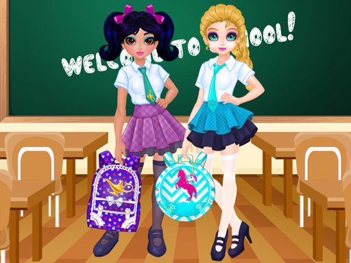 Jacqueline and Eliza School Bag Design Contest online hra