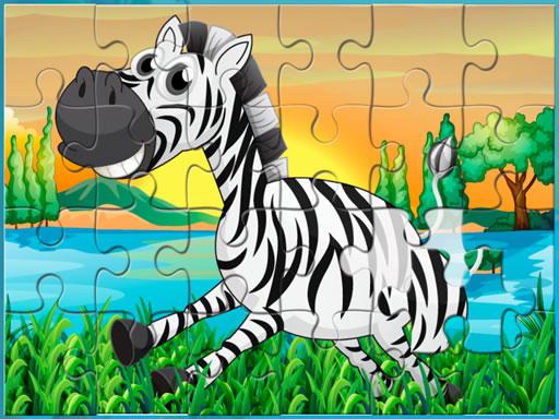 Happy Animals Jigsaw Game