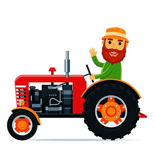 Cartoon Farm Traktors