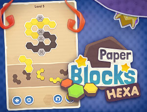 Paper Blocks Hexa online hra