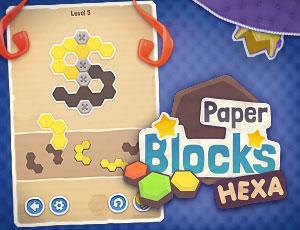 Paper Blocks Hexa game