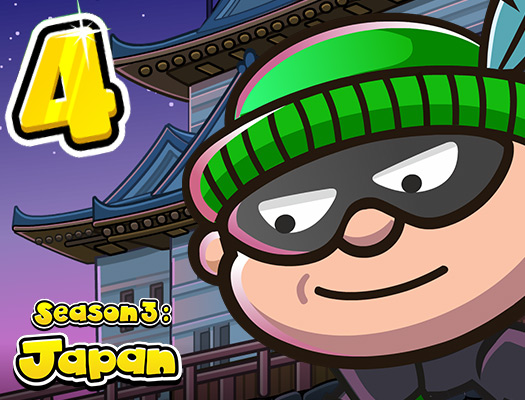 Bob The Robber 4 Season 3: Japan game