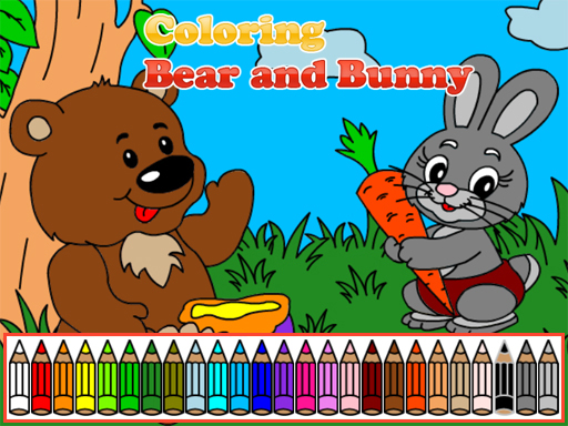 Coloring Bear and Bunny