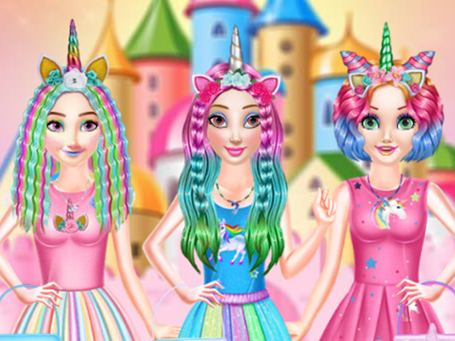 Princesses Rainbow Unicorn ...