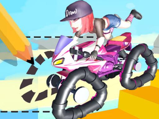 畫畫騎士--Draw Rider-畫畫然後比賽! 你必須先畫輪子。確保每次都畫一對新的,不同的挑戰需要不同形狀的輪子。快速比賽並成功通過所有關卡!