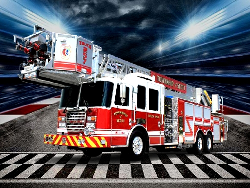 Fire Trucks Puzzle online hra