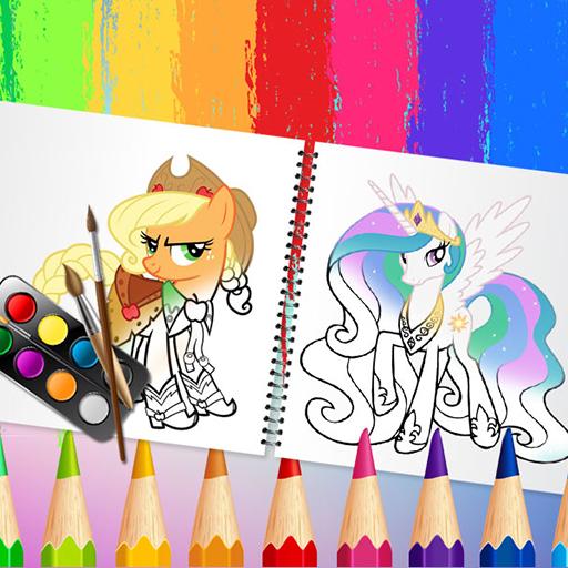 Игра книжка-раскраска  милые пони