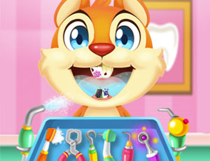 Crazy animals dentist online hra